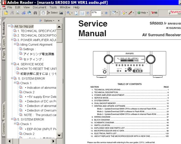 Sony Service Manuals Service Manual